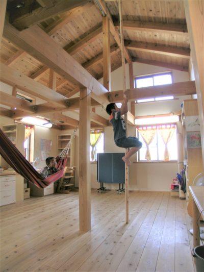 子ども部屋に登り棒