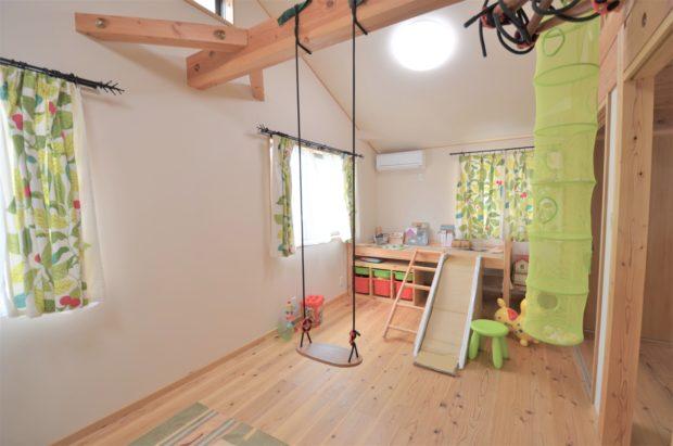 T様邸の将来間仕切りのできる子供部屋