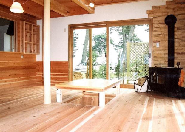 琵琶湖の見えるリビング