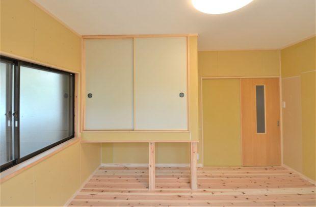 寝室 床・壁・天井しっかりやり替える