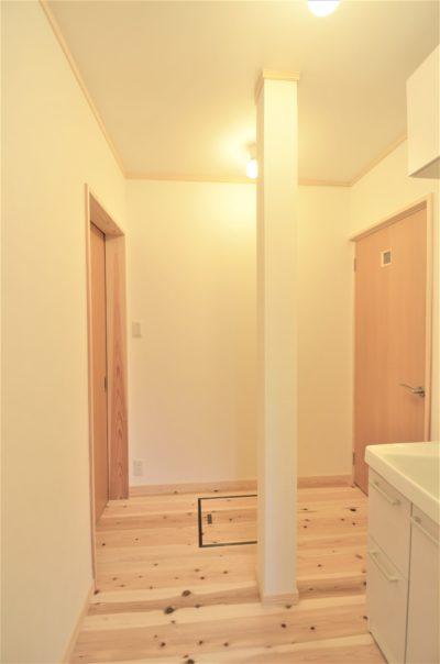 洗面脱衣室は家事動線を考えて