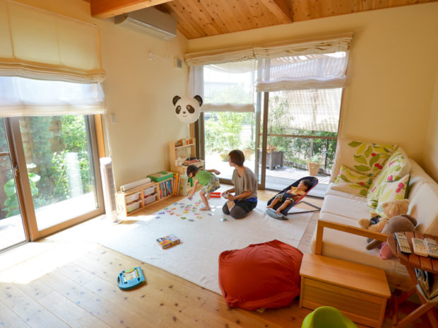 明るくてゆったり京都の自然素材の家