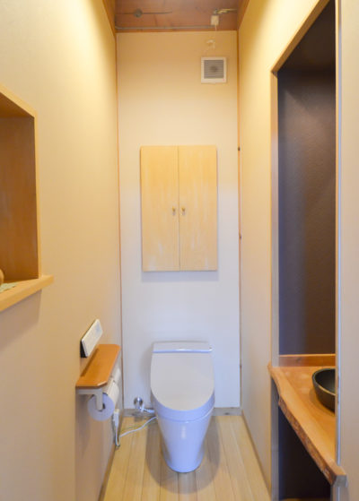 トイレの収納モデルハウス